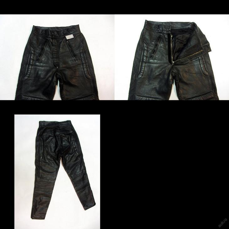 Kožené kalhoty vel. 48/S obvod pasu: 72 cm - Náhradní díly a příslušenství pro motocykly