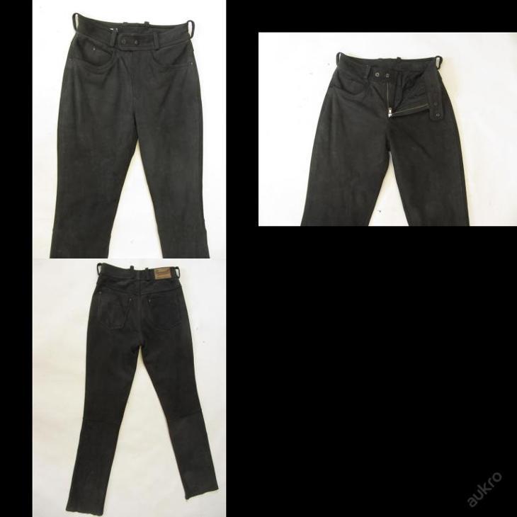 Broušené kožené kalhoty vel.94- obvod pasu: 74 c - Náhradní díly a příslušenství pro motocykly