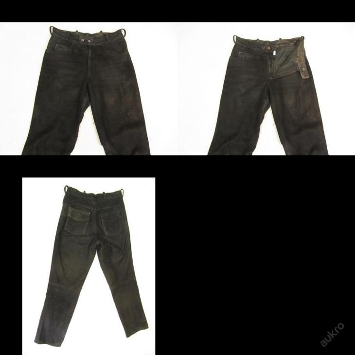 Broušené kožené kalhoty v. 46 - obvod pasu: 74 c - Náhradní díly a příslušenství pro motocykly