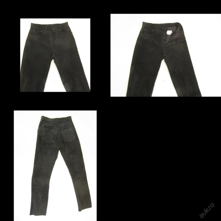 Broušené kožené kalhoty vel.? - obvod pasu: 72 c - Náhradní díly a příslušenství pro motocykly