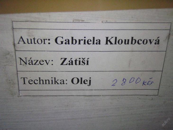 XXXL DO ZELENA LADĚNÉ ZÁTIŠÍ -  GABRIELA KLOUBCOVÁ - Umění