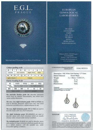 Dětské zlaté náušnice s přírodním diamantem - Šperky