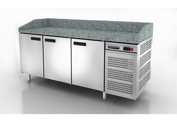 Nerezový pizza stůl trojdvéřový 190x70x85cm - Vybavení obchodu