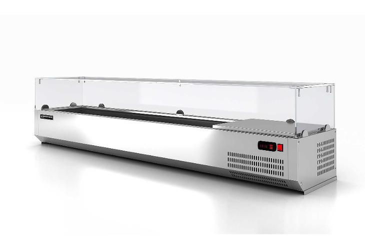 Chladící nástavba s rovným sklem 8xGN1/3 190x39,5 - Vybavení obchodu