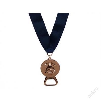 Medaile HASIČI s otvírákem, bronzová