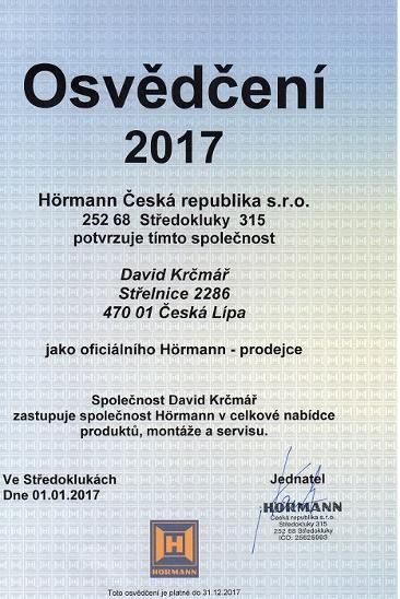 SEKČNÍ GARÁŽOVÁ VRATA HÖRMANN 2,750 x 2,125 m - Stavebniny