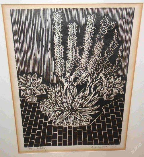 KAKTUSY - ČIPEROVÁ ALENA - LINORYT 1978 - Umění
