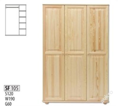 Masivní dřevěná šástní skřín SF 105 borovice masiv