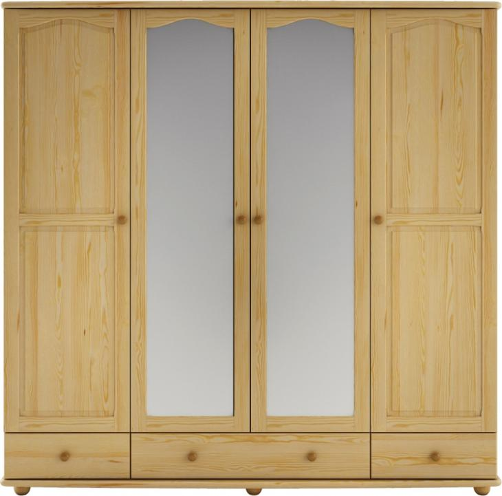 Šatní skřín borovice masiv SF120 - Nábytek