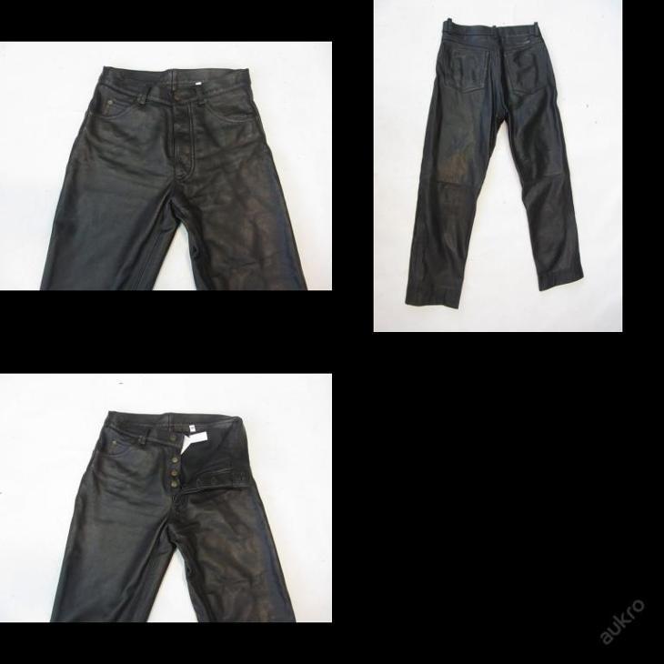 Kožené kalhoty  GIPSY vel. 30 - obvod  pasu: 72  - Náhradní díly a příslušenství pro motocykly