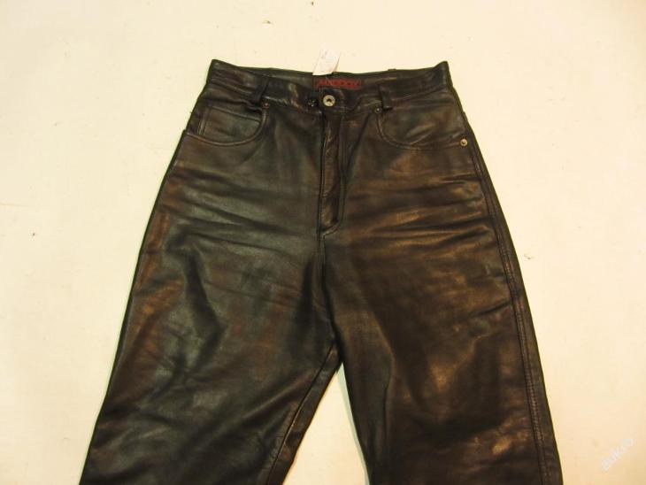 Kožené kalhoty MADDOX vel.36 - obvod pasu: 72 cm - Náhradní díly a příslušenství pro motocykly