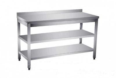 Nerezový stůl 2 police 90x60x85cm