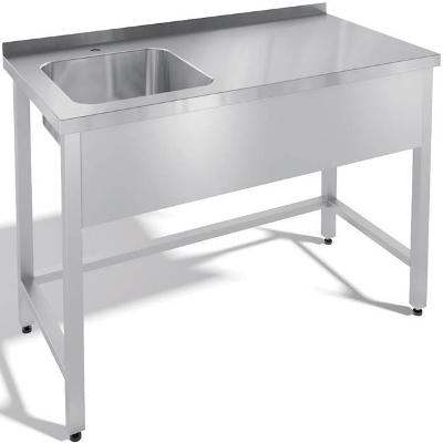 Nerezový stůl s dřezem vpravo 100x60x85cm