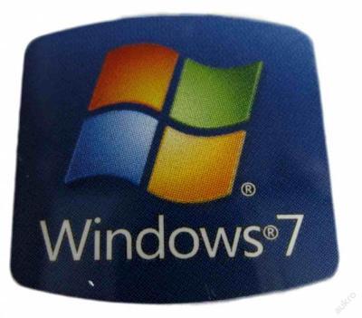 NÁLEPKA SAMOLEPKA Windows 7 na PC 20x20mm