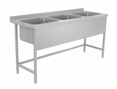 Nerezový stůl s trojdřezem 150x60x85cm