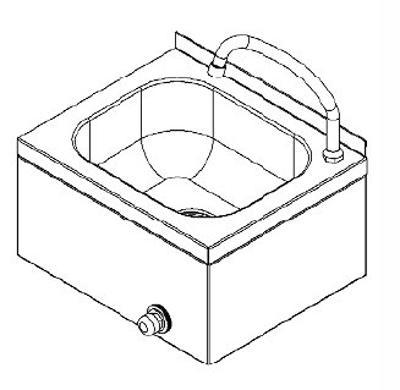 Nerezový umyvadlo s ovládáním 40x33x24cm
