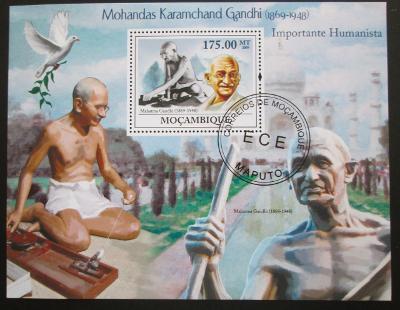 Mozambik 2010 Mahatma Gandhí Mi# Bl 264 10€ 0549