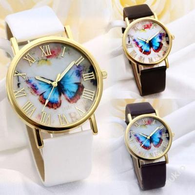 Módní dámské hodinky Geneva motýl 3 barvy