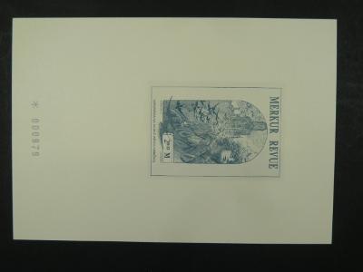 příl. tisk Merkur Revue 2002 - Mucha - číslovaný