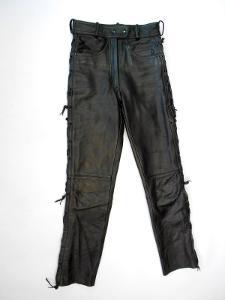 Kožené šněrovací kalhoty vel. 40 - obvod pasu:66