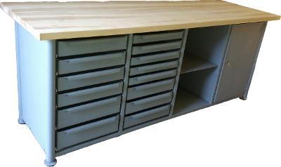 pracovní, dílenský stůl, ponk, model SAFE LONG TS