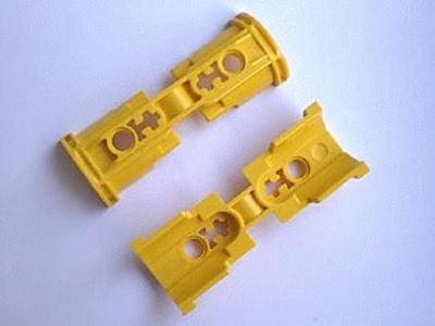 LEGO technic Yellow Pneumatic Cylinder Bracket