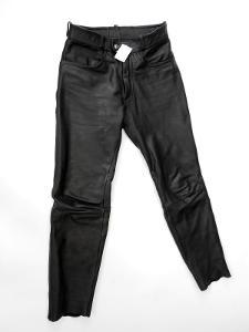 Kožené kalhoty  vel. 48/ S - obvod pasu: 76 cm