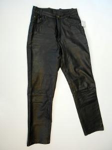 Kožené dámské kalhoty vel.30 E.M.Z  - pas:70 cm
