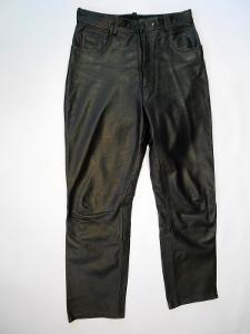 Kožené kalhoty POLO - obvod pasu: 78 cm (A042)