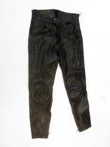 Kožené kalhoty  vel. 50/M - obvod pasu: 82 cm