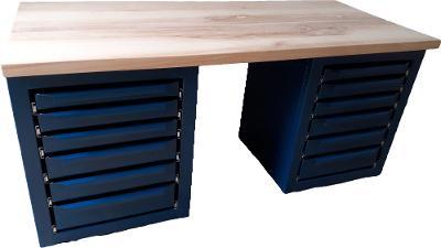 pracovní, dílenský stůl, ponk, model BOX DUO