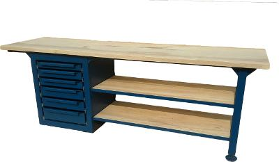 pracovní, dílenský stůl, ponk, model SHELF