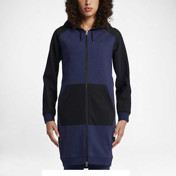 Mikina NIKE Nikelab Essential Fleece Long Hoodie-vel.M (6921318397) 65956937686