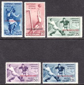 Egejské ostrovy 1934 MS ve fotbale, kat. 980 Euro!