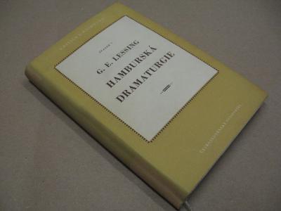HAMBURSKÁ DRAMATURGIE výbor Lessing G. E. 1951
