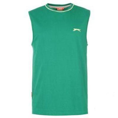 Pánské zelené tričko bez rukávů Slazenger, velikost L