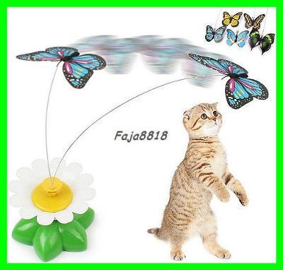 Elektrický rotační motýl - hračka pro kočky / kočičky / koťata