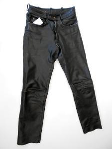 Kožené kalhoty  vel. 30 - obvod pasu: 74 cm