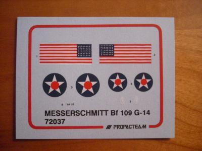 Obtisky - Messerschmitt Bf 109 G-14, 1/72, Propagt