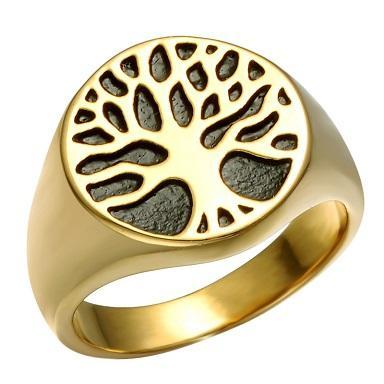 Prsten Strom života zlacený 19-21mm - Šperky