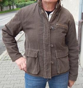 Pěkná khaki manšestrová bunda Blind Date vel.M