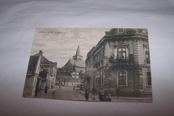 KRÁSNO NAD BEČVOU Mostní ulice lidé /Vsetín /pf2/ - Pohlednice