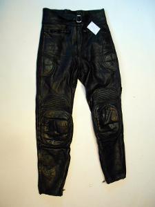 Kožené kalhoty vel. 38 - obvod pasu: 76 cm