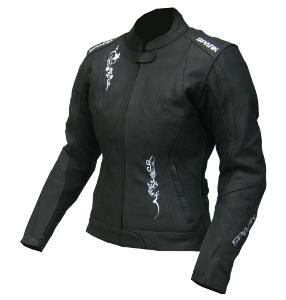 Dámská kožená moto bunda Spark Jane, černá - 4XL