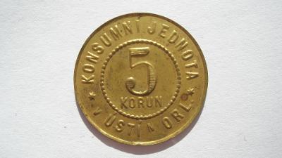 Konsumní jednota v Ústí n. Orlicí 5 korun
