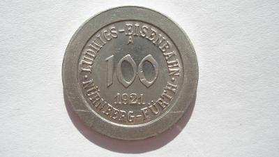 Norimberk dráhy 100 fenik 1921 A