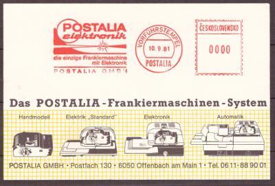 PROPAGAČNÍ LIST - RAZÍTKO, FRANKOTYP POSTALIA 1981 (T3205)