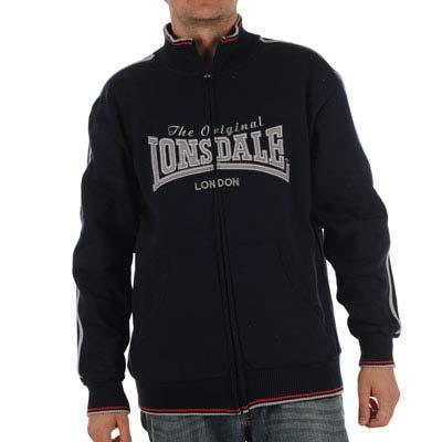 Tmavě modrá mikina Lonsdale bez kapuce 687dc1e88c