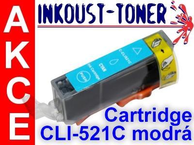 Inkoustová kazeta CLI-521 C modrá pro Canon, 11 ml