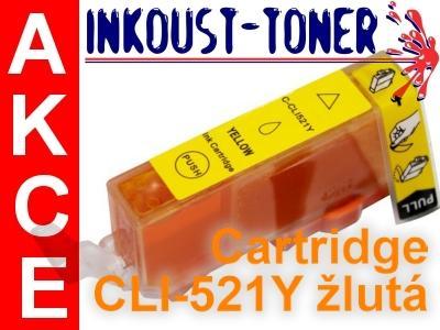 Inkoustová kazeta CLI-521 Y žlutá pro Canon - 11ml